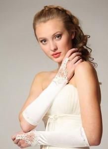 Sovanna Перчатки свадебные атласные - фото 1