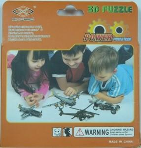 """Игрушка66 Объёмный подвижный 3D пазл """"Самолет"""" - фото 3"""