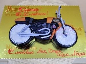 Торт Мадам Эклер Мотоцикл - фото 1