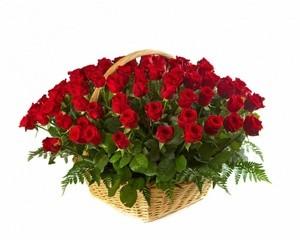 Букетик 66 Корзина c розами - фото 2