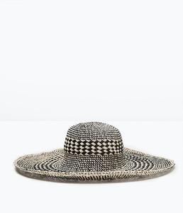 ZARA Шляпа широкополая двухцветная 0049/005 - фото 1