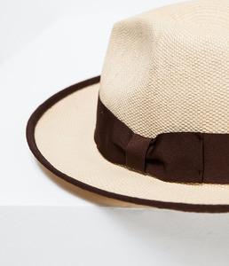 ZARA Соломенная шляпа с большими полями - фото 3