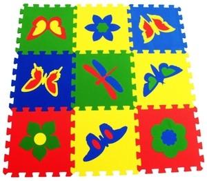 Игрушка66 Экополимеры Детский коврик-пазл «Бабочки» - фото 1