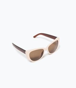ZARA Очки солнцезащитные в стиле ретро - фото 2