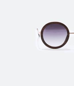 ZARA Солнцезащитные очки в деревянной оправе - фото 3