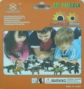 """Игрушка66 Объёмный подвижный 3D пазл """"Бронтозавр"""" - фото 2"""